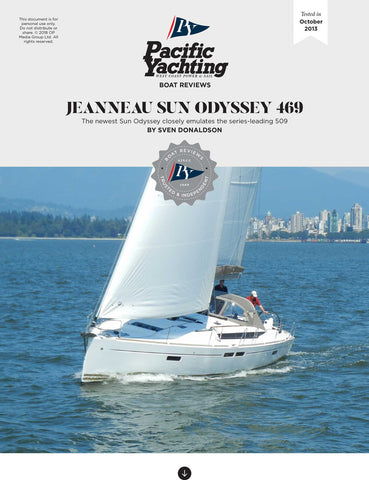 Jeanneau Sun Odyssey 469 [Tested in 2013]