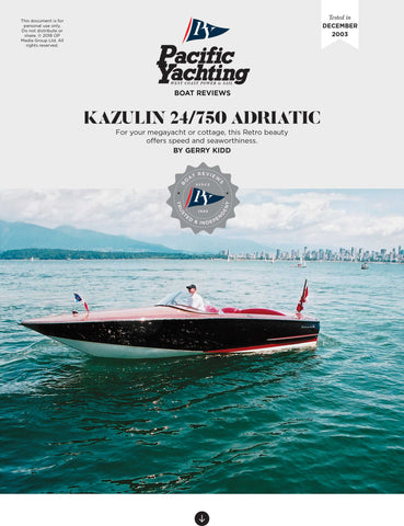 Kazulin 24/750 Adriatic [Tested in 2003]