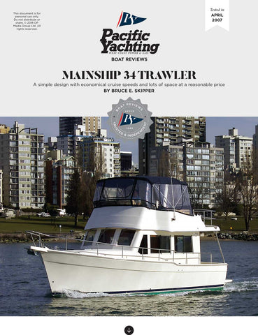 Mainship 34 Trawler [Tested in 2007]
