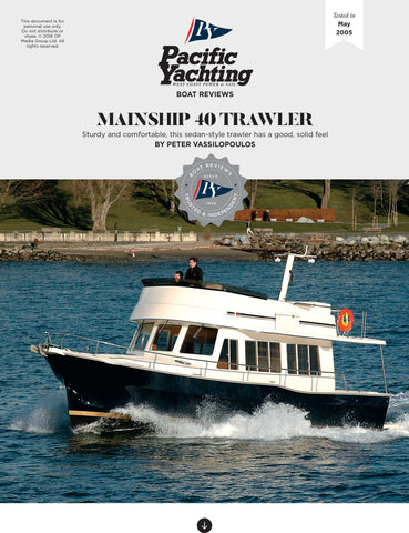 Mainship 40 Trawler [Tested in 2005]