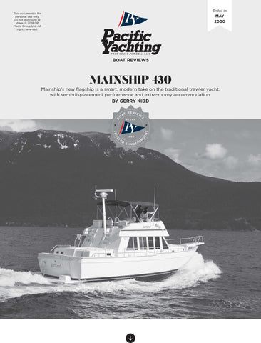 Mainship 430 [Tested in 2000]