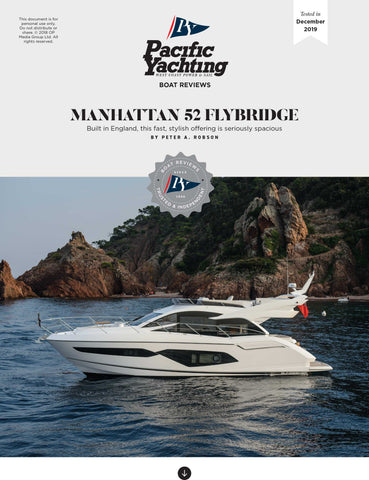 Manhattan 52 Flybridge [Tested in 2019]