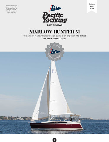 Marlow Hunter 31 [Tested in 2015]