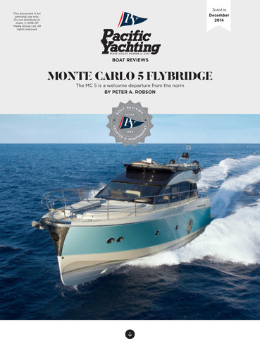 Monte Carlo 5 Flybridge [Tested in 2014]