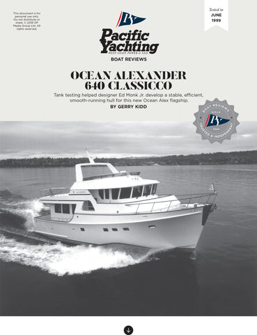 Ocean Alexander 640 Classicco [Tested in 1999]
