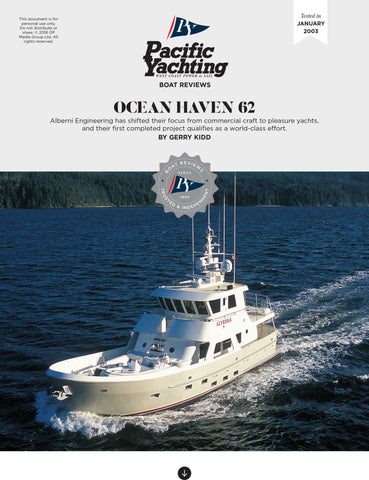 Ocean Haven 62 [Tested in 2003]