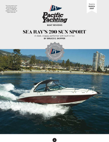Sea Ray 290 Sun Sport [Tested in 2007]