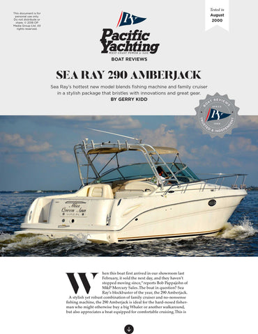 Sea Ray 290 Amberjack [Tested in 2000]