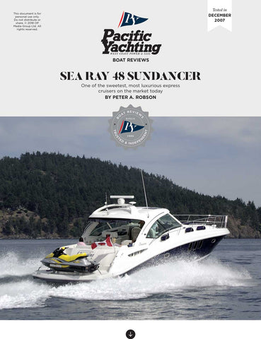 Sea Ray 48 Sundancer [Tested in 2007]