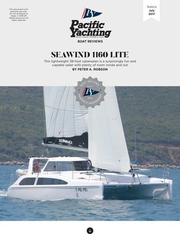Seawind 1160 Lite [Tested in 2017]