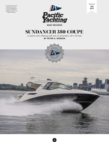 Sundancer 350 Coupe [Tested in 2017]
