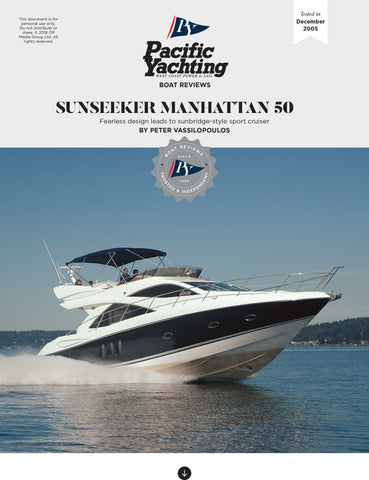 Sunseeker Manhattan 50 [Tested in 2005]