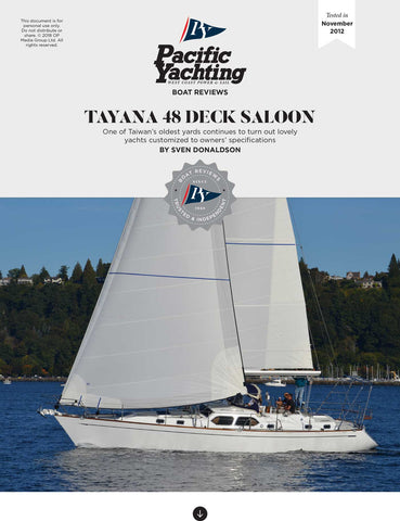 Tayana 48 Deck Saloon [Tested in 2012]