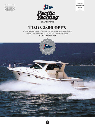 Tiara 3800 Open [Tested in 2002]