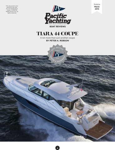 Tiara 44 Coupe [Tested in 2015]