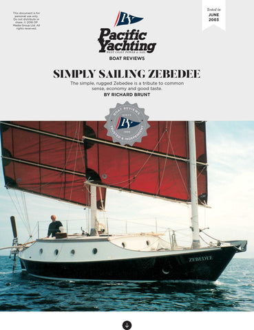 Simply Sailing Zebedee [Tested in 2003]