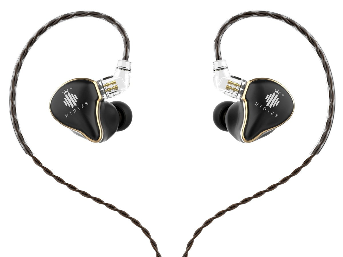 HIDIZS MS1 in-Ear Monitor Headphones, Hi Res Headphones Wired Audiophile, Dynamic Diaphragm Hi-Fi IEM Earphones with Detachable Cable - Gears For Ears