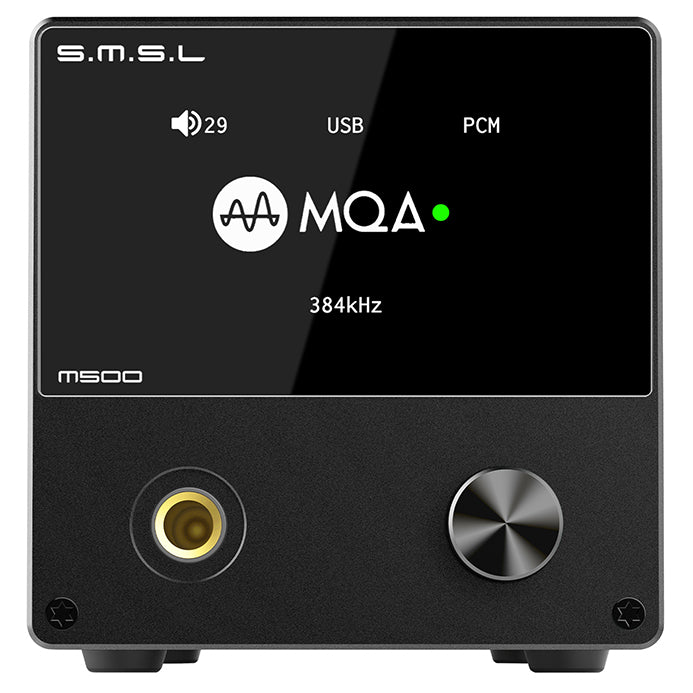 S.M.S.L M500 DAC Headphone Amp Supports MQA decoding ES9038PRO D/A chip USB Uses XMOS XU-216 with Remote Control