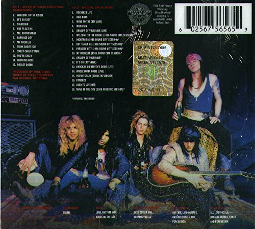 Appetite For Destruction - Deluxe Edition - Guns N' Roses - Gears For Ears