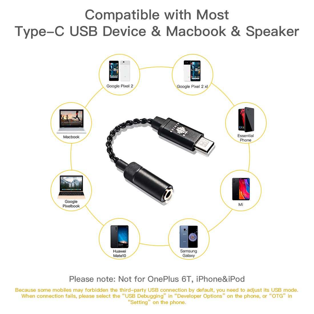 Hidizs Sonata 2 - USB C to 3.5mm converter - Gears For Ears