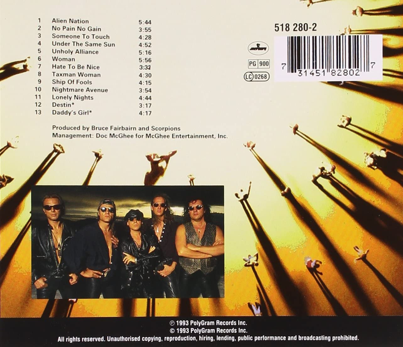 Scorpions - Face The Heat (Used) (Mint Condition)