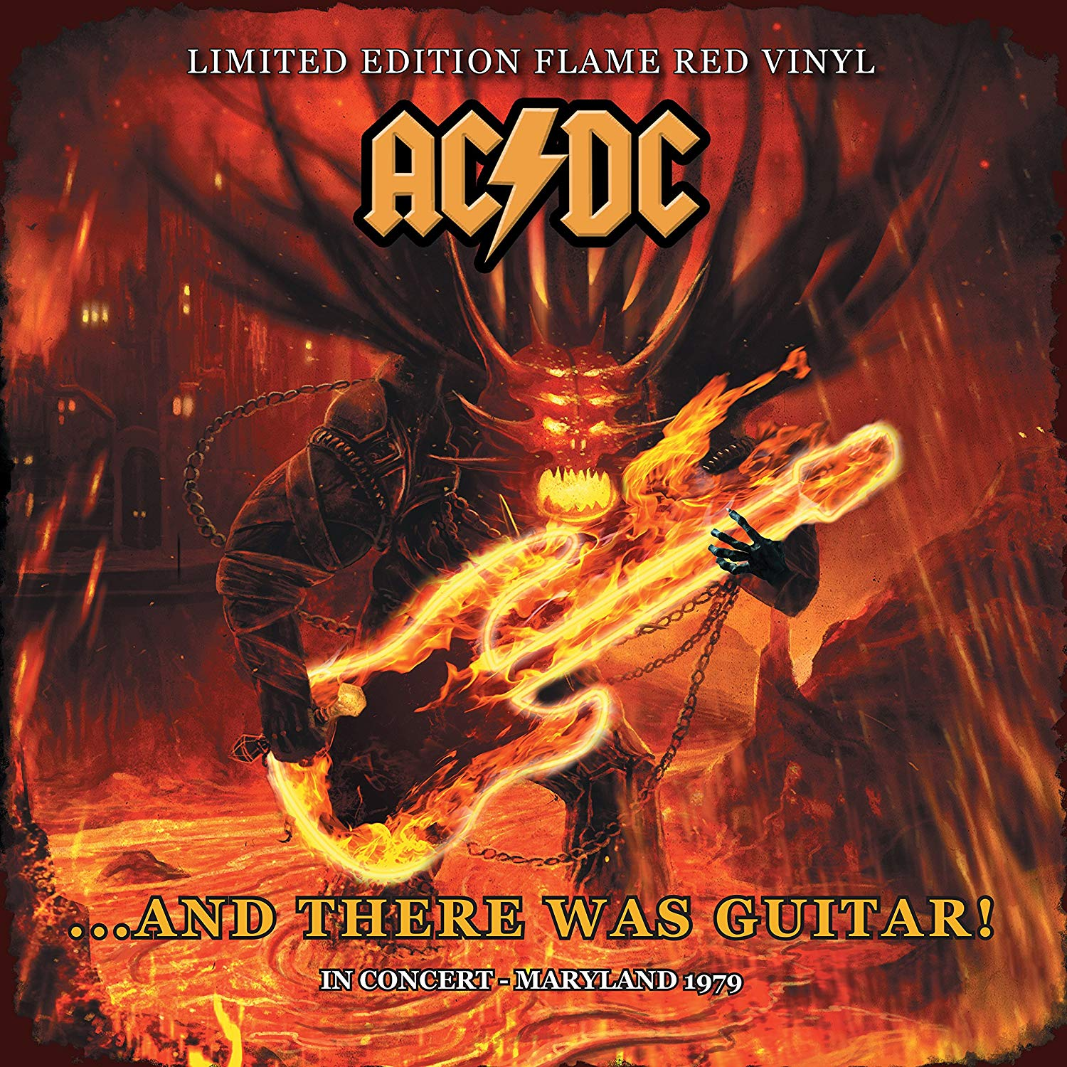 AC DC  ...And There Was Guitar!: In Concert - Maryland 1979 (Limited Edition Flame Red Vinyl) - Gears For Ears