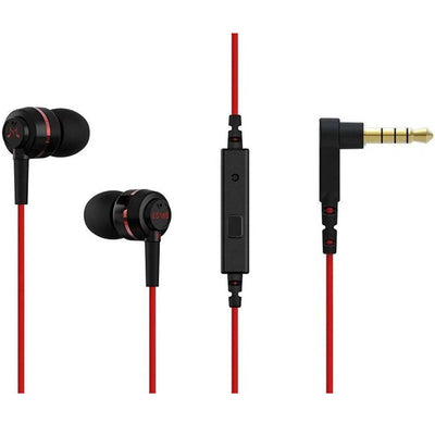 SoundMAGIC ES18S In Ear Isolating Earphones with Mic - Black/Red