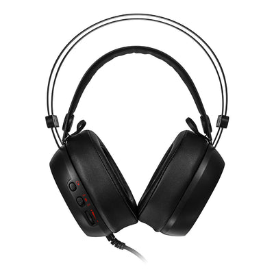 Thermaltake HT SHOCK PRO RGB Analog (EC) Ear-cup Black Full size stereo headset with 7 Color LED, 3.5mm plug
