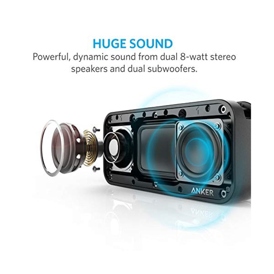 Anker SoundCore Speaker Sport XL 16W with IPX67 Rating and 2 Subwoofers (Black)