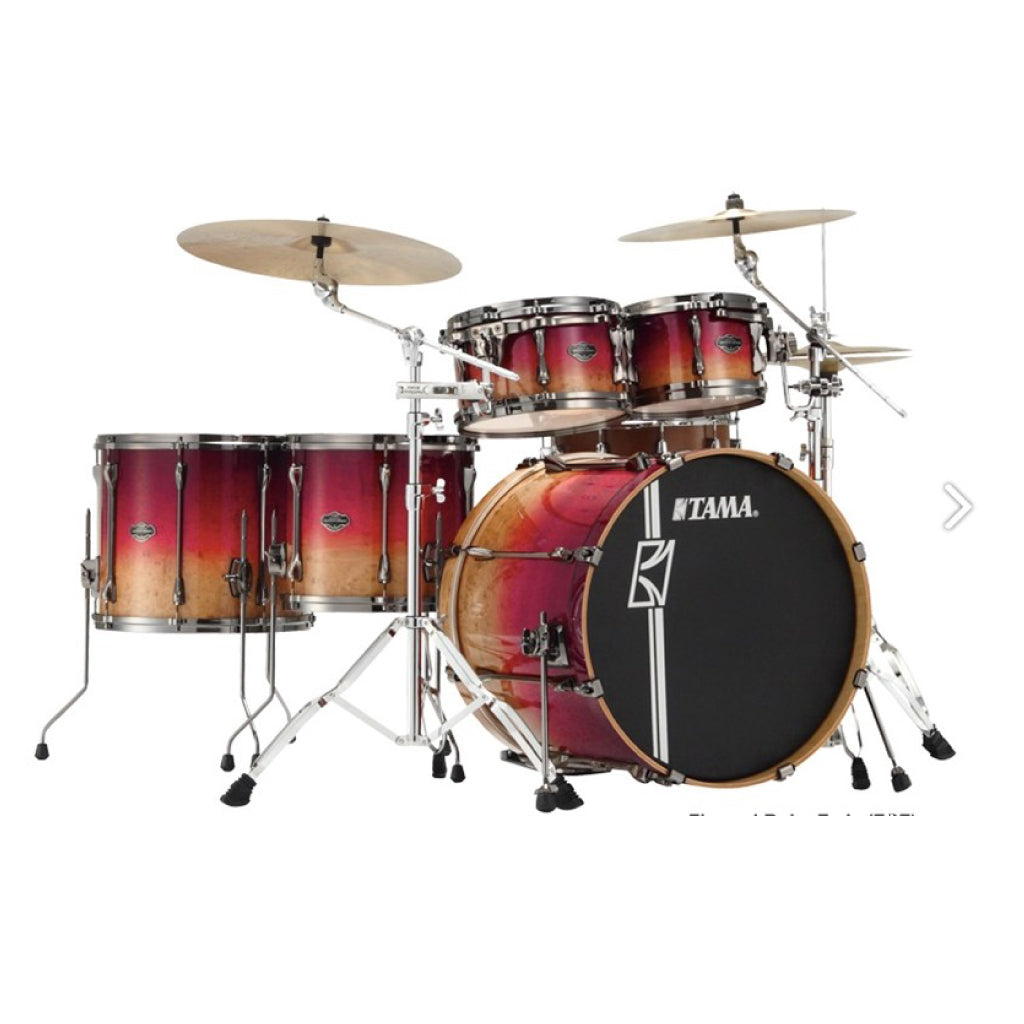 Tama ML52HLZBSG Superstar HyperDrive LTD 5 Piece Shell Pack, Ruby Fade - Gears For Ears