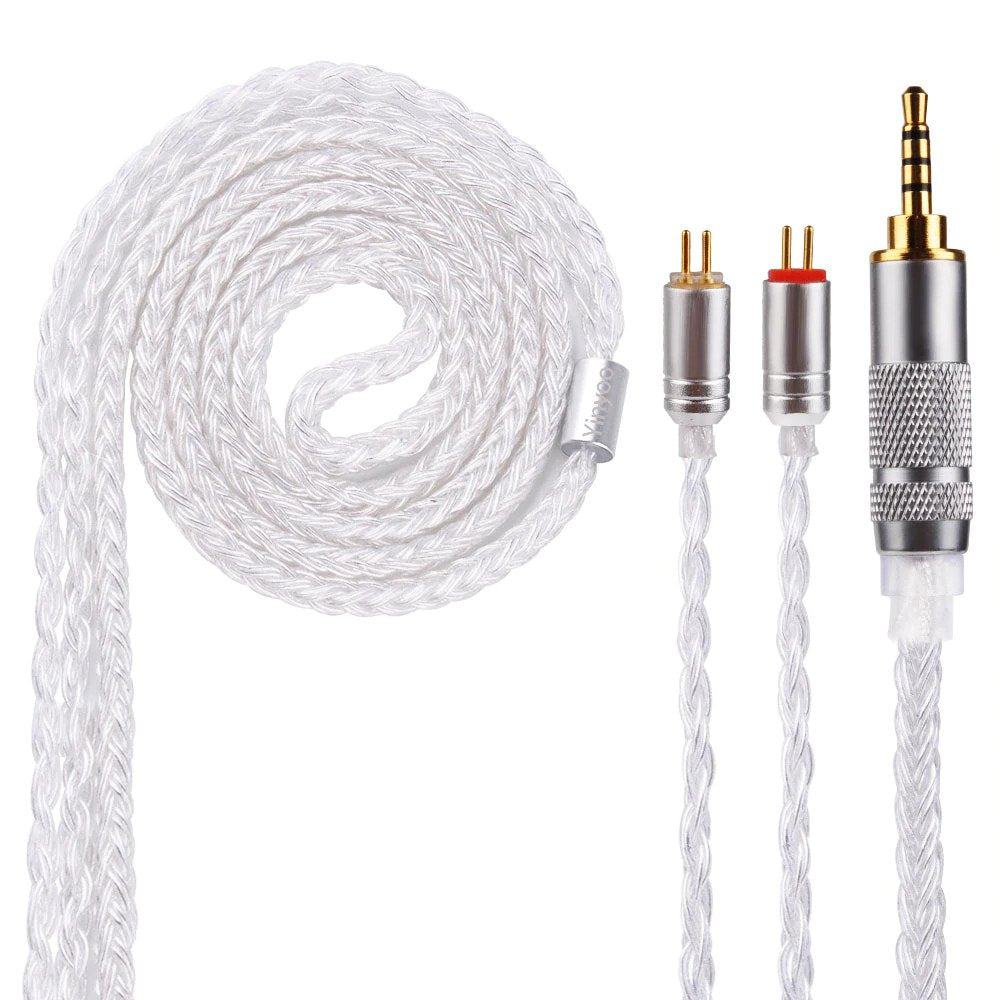 Yinyoo 16 Core Silver Plated Cable 3.5mm Upgrade Cable With MMCX/2pin/QDC for BLON BL-03 - Gears For Ears