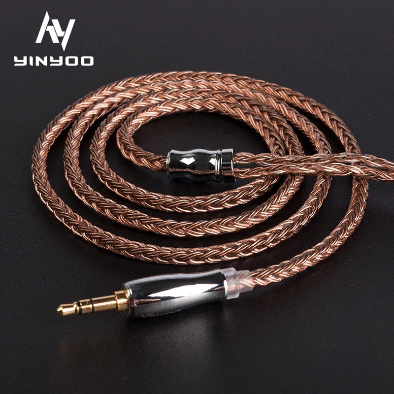 Yinyoo 16 Core High Purity Copper Cable 3.5 MM With MMCX/2PIN/QDC TFZ FOR BLON BL-03 - Gears For Ears