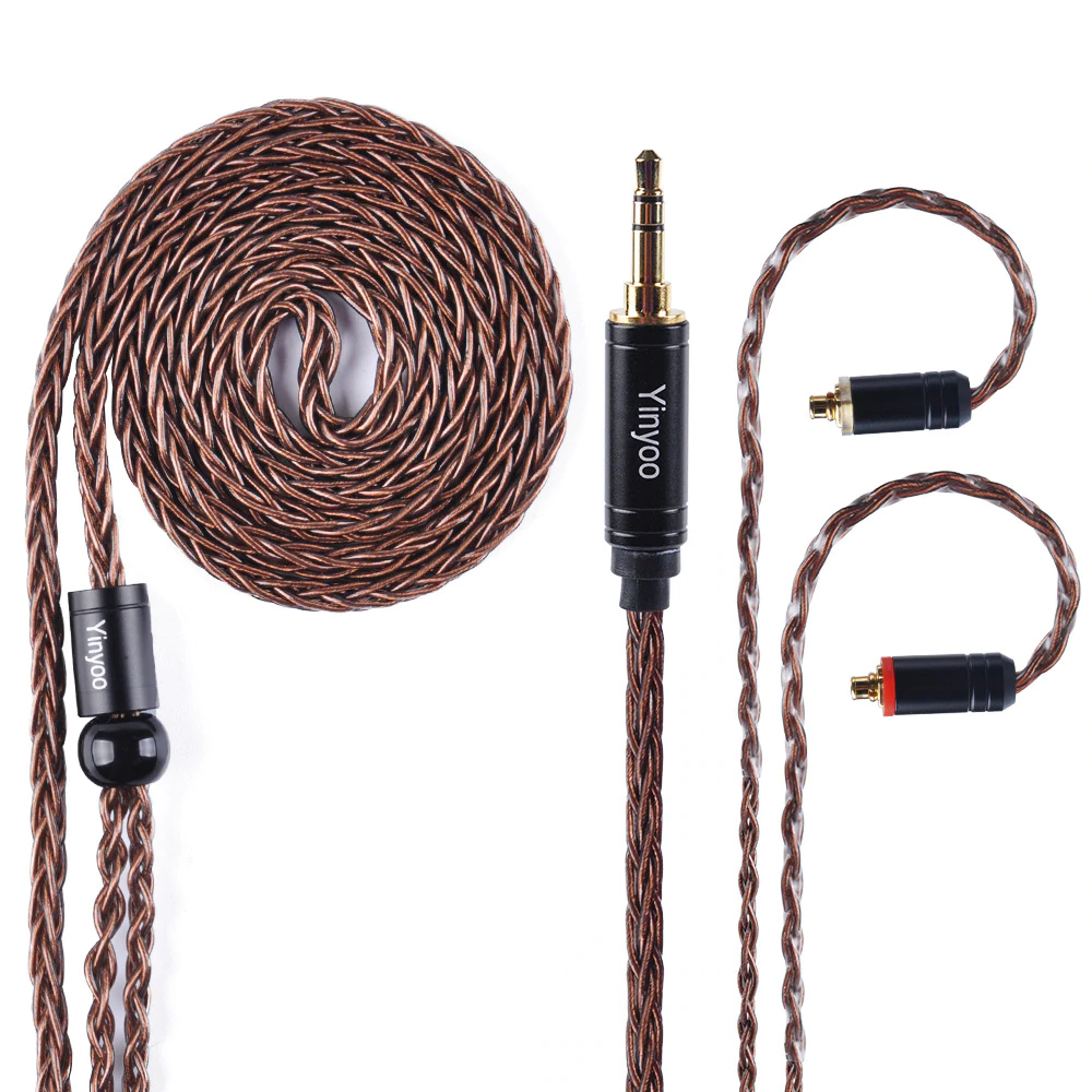 Yinyoo 8 Core Pure Copper Cable 2.5/3.5/4.4mm Balanced Cable MMCX/2pin Connector - Gears For Ears