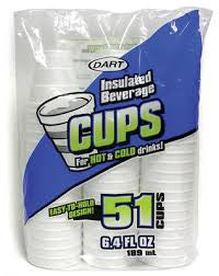 Dart Foam Cups 6.4oz 1224 Count