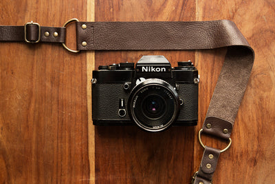 Berlin #402 - Brown leather camera strap