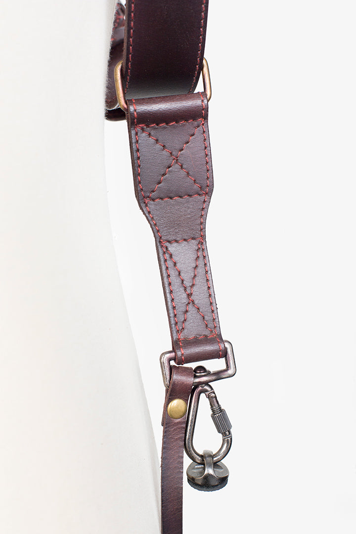 Tokyo #502 - Brown & Red dual leather camera strap