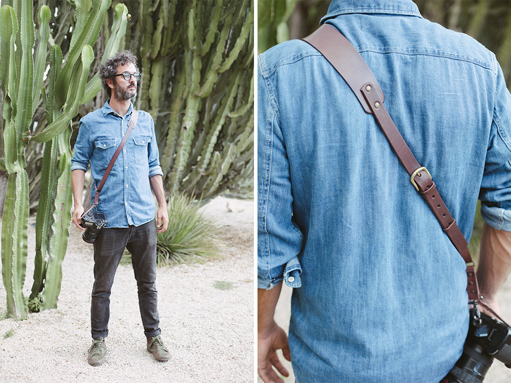 Berlin #602 - Brown sling leather camera strap