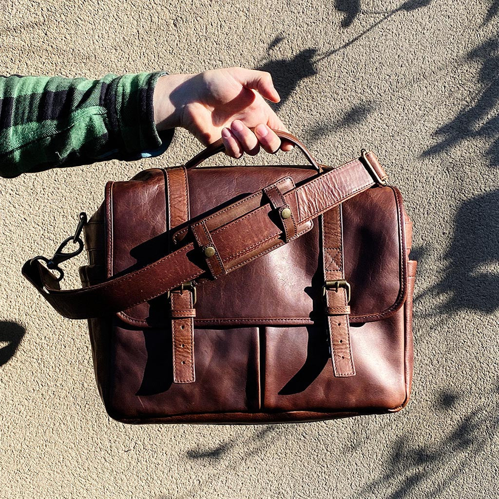 Roma leather camera bag