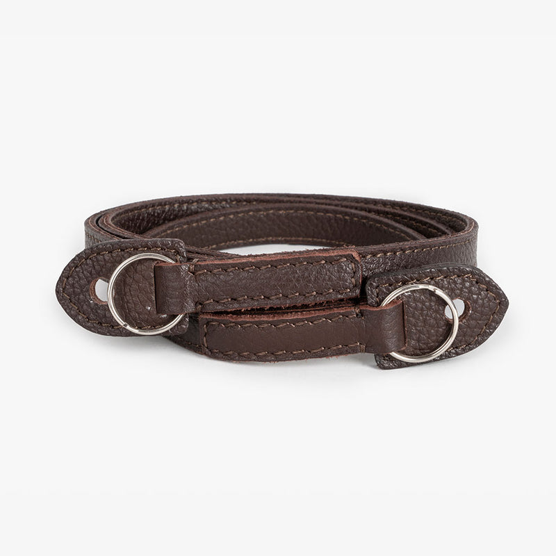 Roma #102 - Brown Leather camera strap