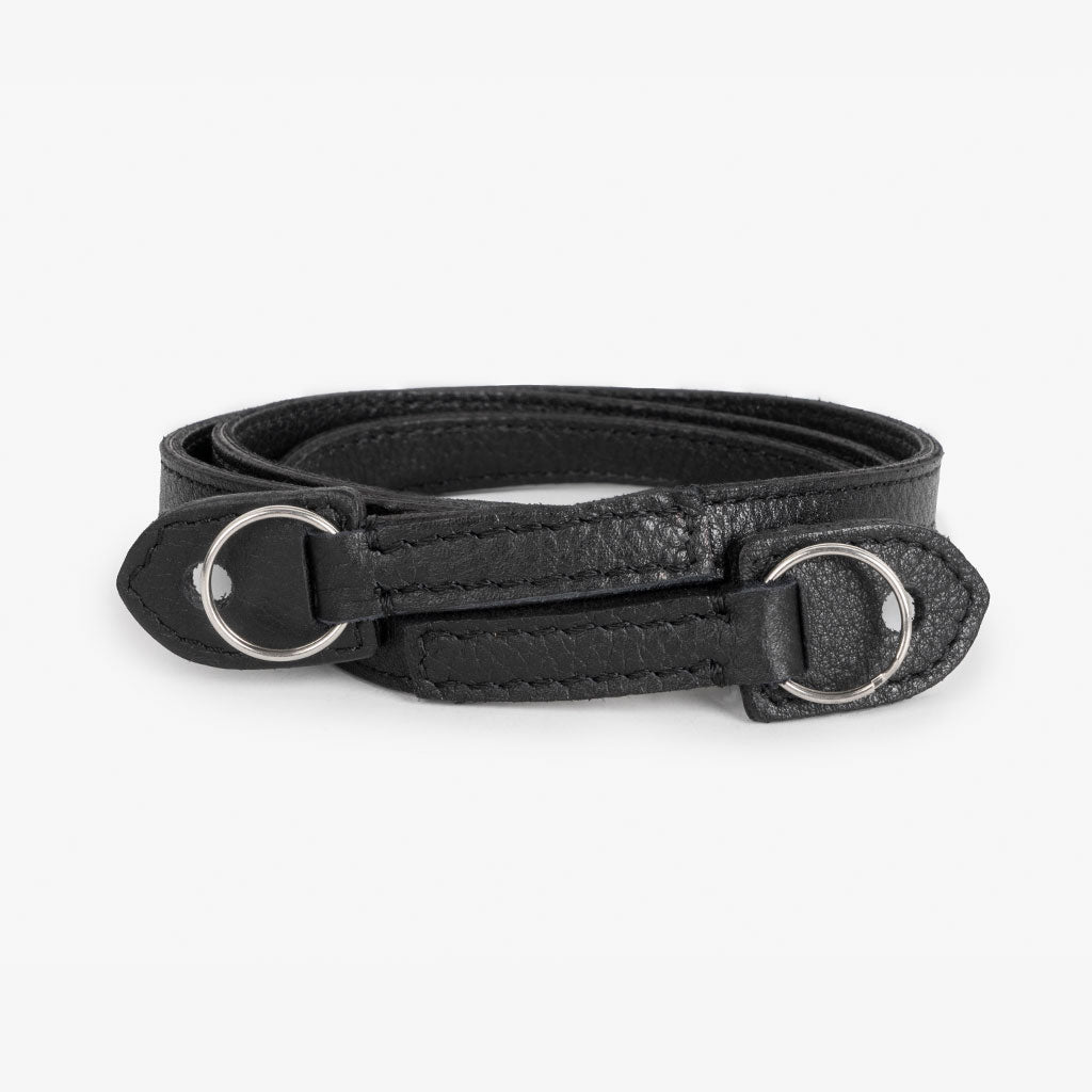 Roma #101 - Black Leather camera strap