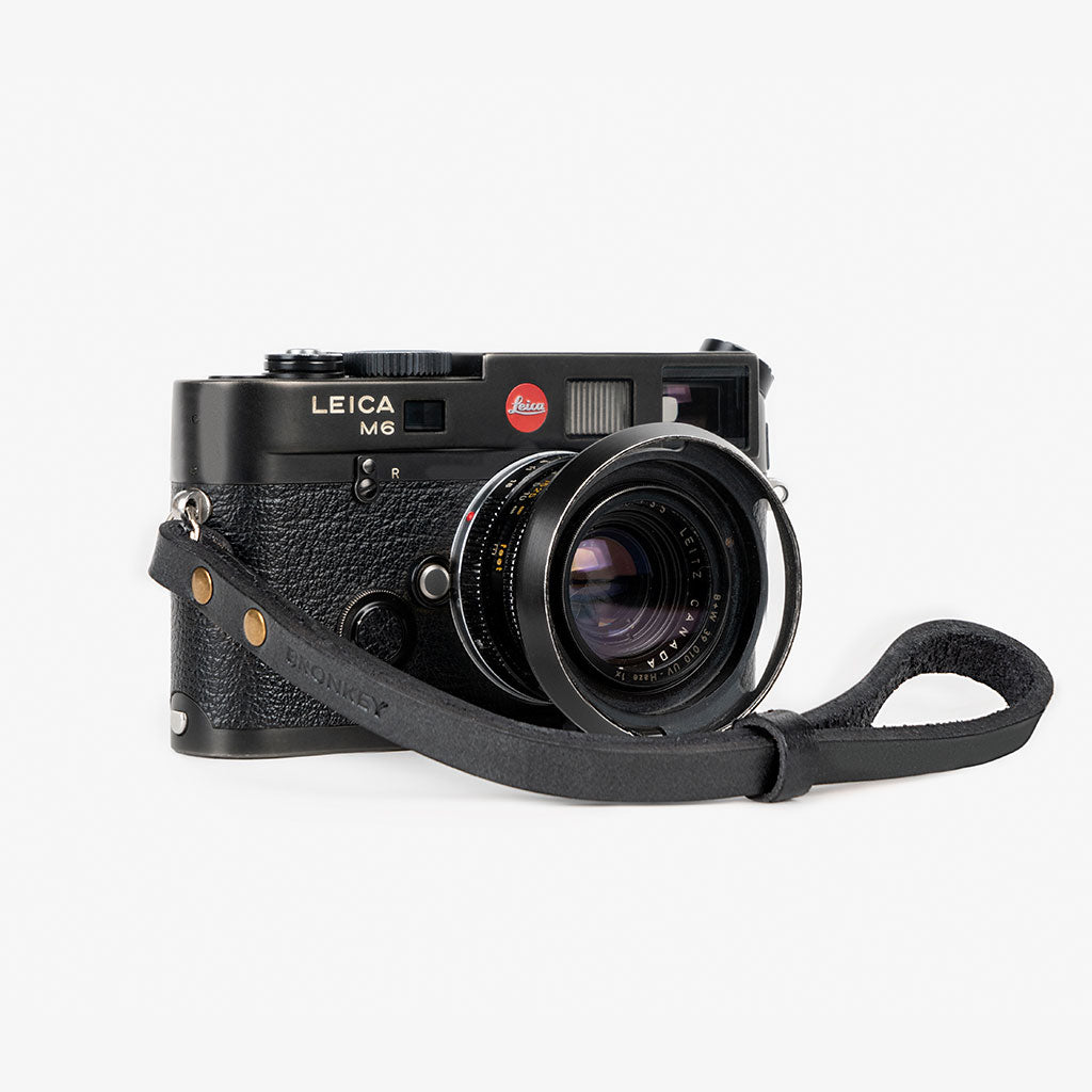 Berlin #201 - Black Leather camera strap