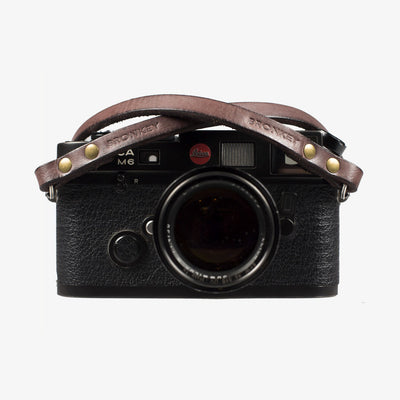 Berlin #102 - Brown Leather camera strap