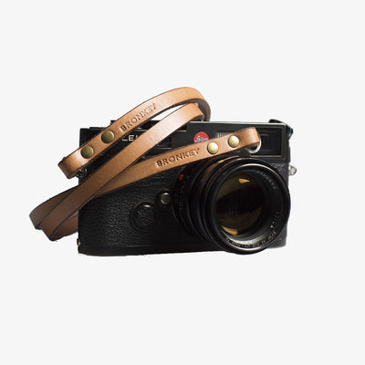 Berlin #103 - Tanned Leather camera strap