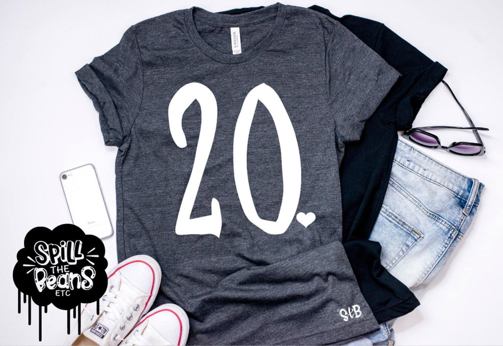 20 - 30 - 40 Adult Birthday Shirt