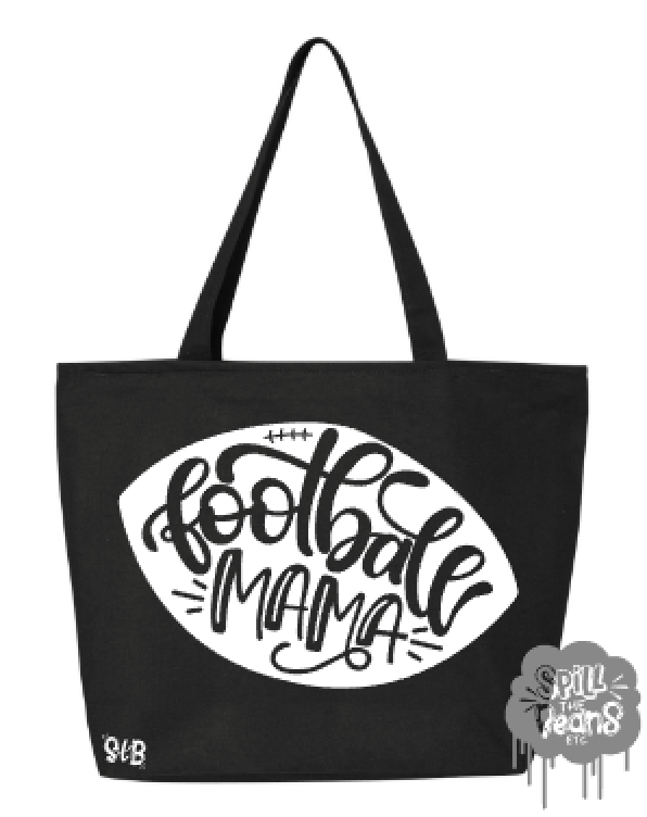 Football Mama Canvas Bag