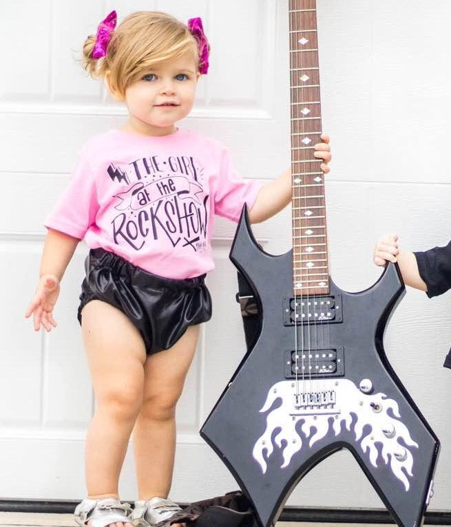 Girl At The Rock Show Show Kid's Tee Or Bodysuit