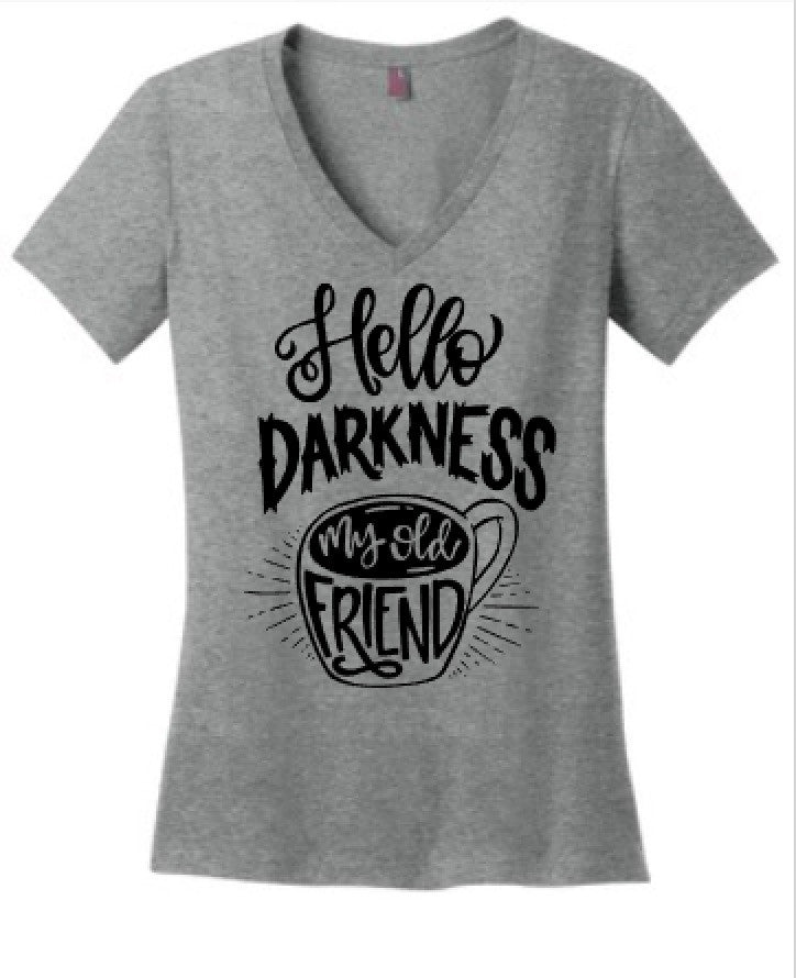 Hello Darkness My Old Friend Coffee tee