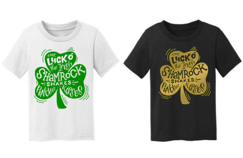 Shamrock Shakes Pinches and Kisses St. Patty's Day Tee