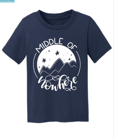 Middle Of Nowhere Kid's Shirt