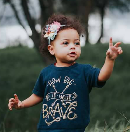 How Big is Your Brave inspirational anti-bullying positive shirts quote toddler Infant Shirt Bodysuit Trap Music lyrics